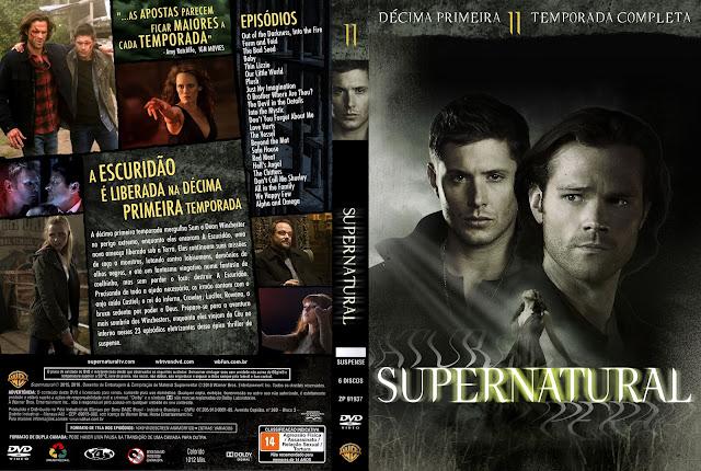 Capa DVD Supernatural (Sobrenatural) Décima Primeira Temporada Completa