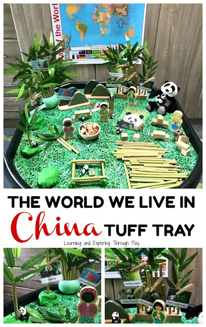 British Values - China Tuff Tray - The World we Live in Early Years