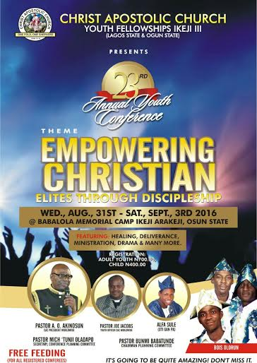 FAJI CARES GLOBAL CONCEPTS: CHRIST APOSTOLIC CHURCH YOUTH FELLOWSHIP
