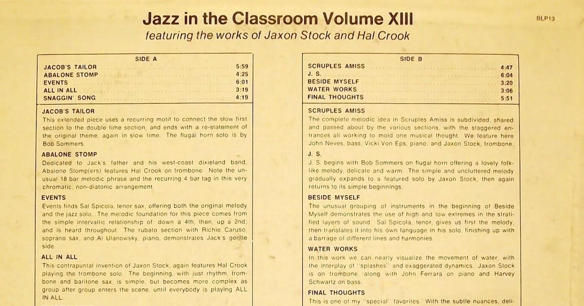 Justjazzart: Jazz in the Classroom XIII