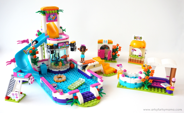 Make a Splash with LEGO® Friends Heartlake Summer Pool | artsy ...