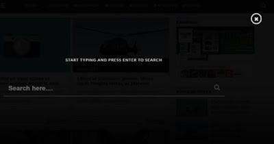 Kotak Pencarian Full Screen