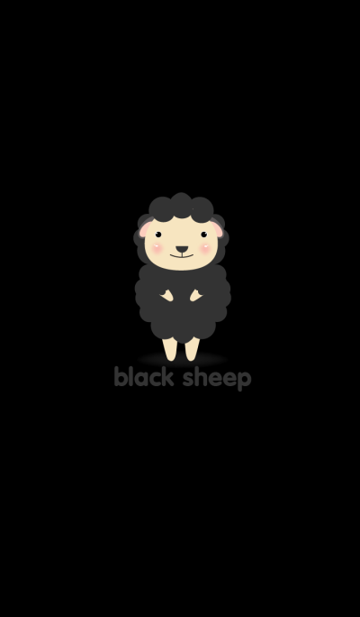 Simple cute Black sheep theme