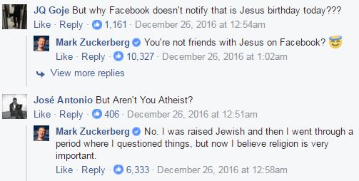 SHOCKING! Facebook Founder Mark Zuckerberg Says He's No Longer An Atheist! Read it Here!