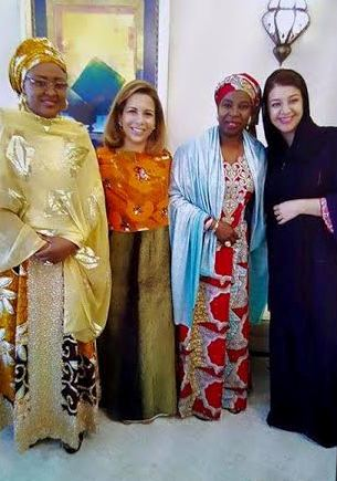 Photos: Aisha Buhari Visits Wife Of Dubai Prime Minister