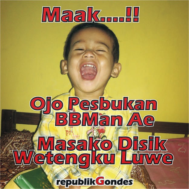 Download 108 Gambar Lucu Gokil Kocak Bahasa Jawa Terbaru