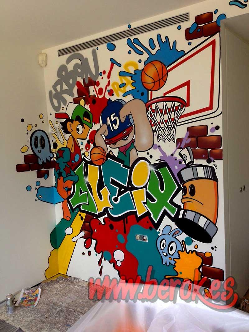 Berok graffiti mural profesional en barcelona graffiti for Graffitis para habitaciones