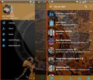 BBM Mod Batik Teme v7 iMessenger Series Clone And Unclone 3.0.1.25 APk Terbaru