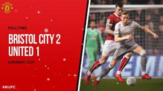 Manchester United Dikalahkan Bristol City 1-2