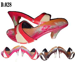 Sandal High Heels Cantik (Sandal Kelom Heels Airbrush)