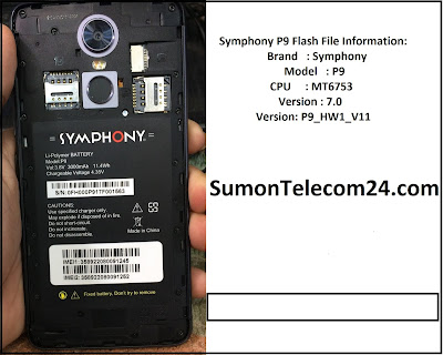 Symphony P9 Flash File | MT6753 Official Stock Firmware File Download