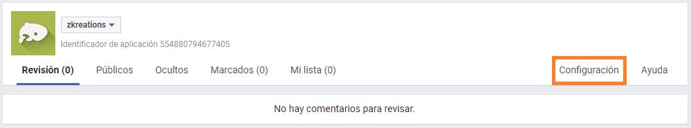 configuracion moderacion de facebook