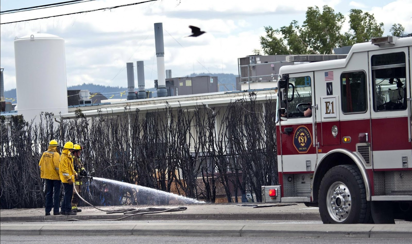 Aluminium plant safety a wall of flames shuts down an for Department of motor vehicles spokane valley