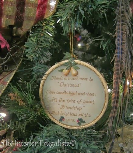 Friendship Christmas ornament