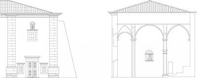 Alçado (Church Elevation) da Igreja Nossa Senhora Victória, Castelo de Vide, Portugal