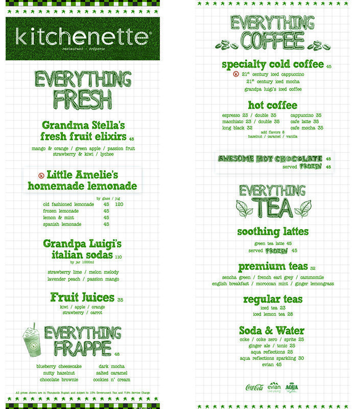 harga menu kitchenette central park terbaru 2017