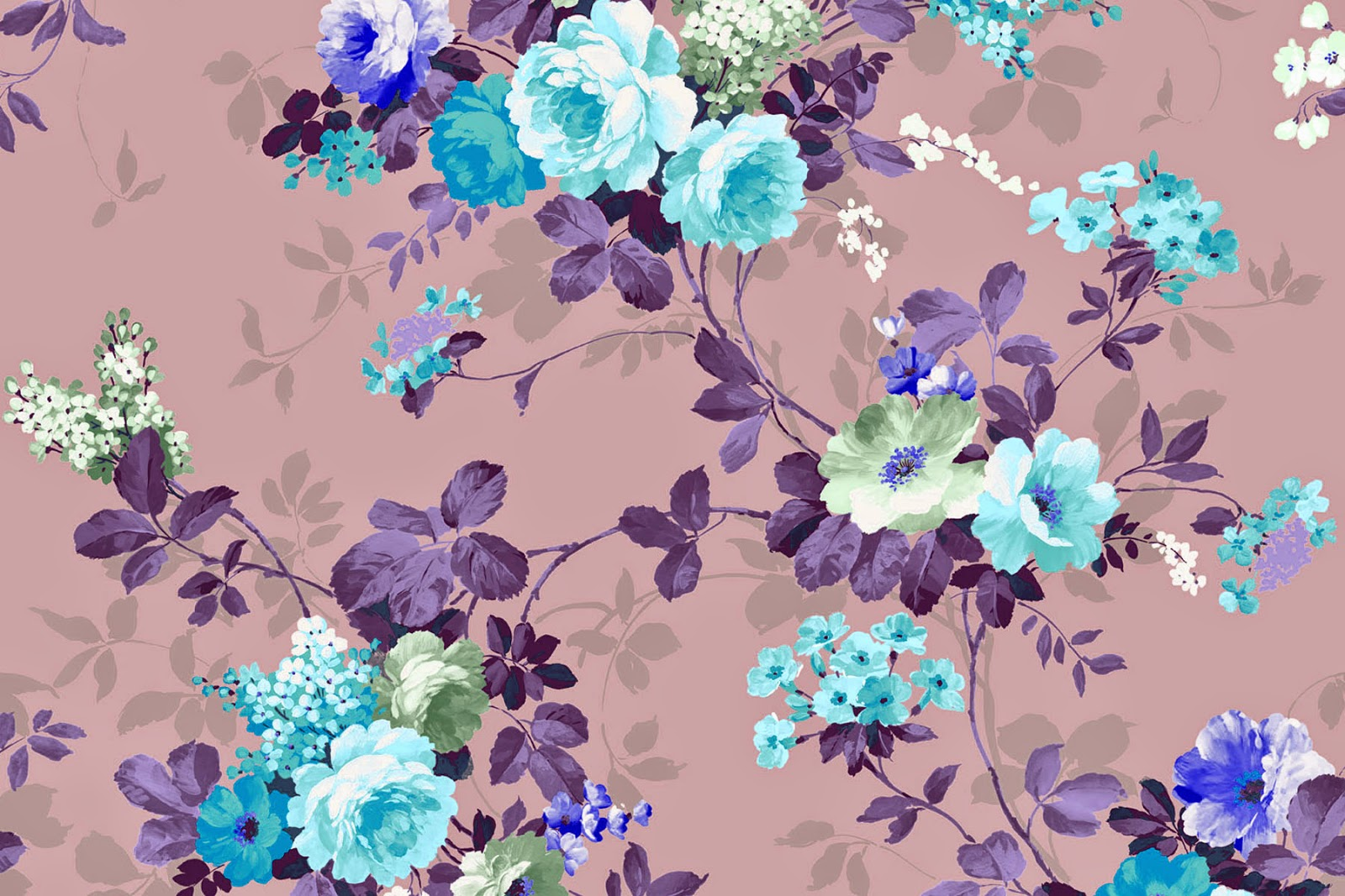 Vintage Floral Wallpaper Freebies