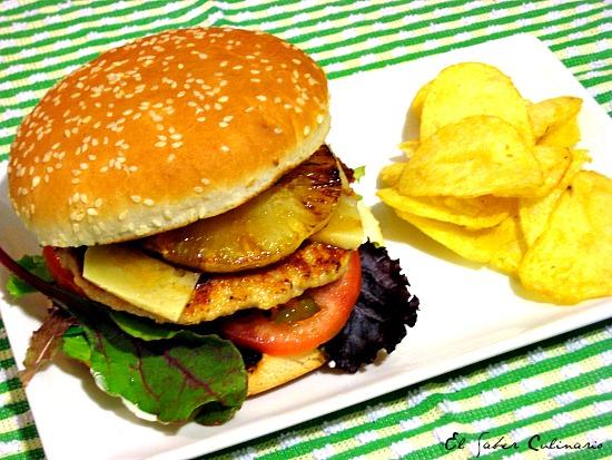 hamburguesa-pollo-salsa-teriyaki-pina