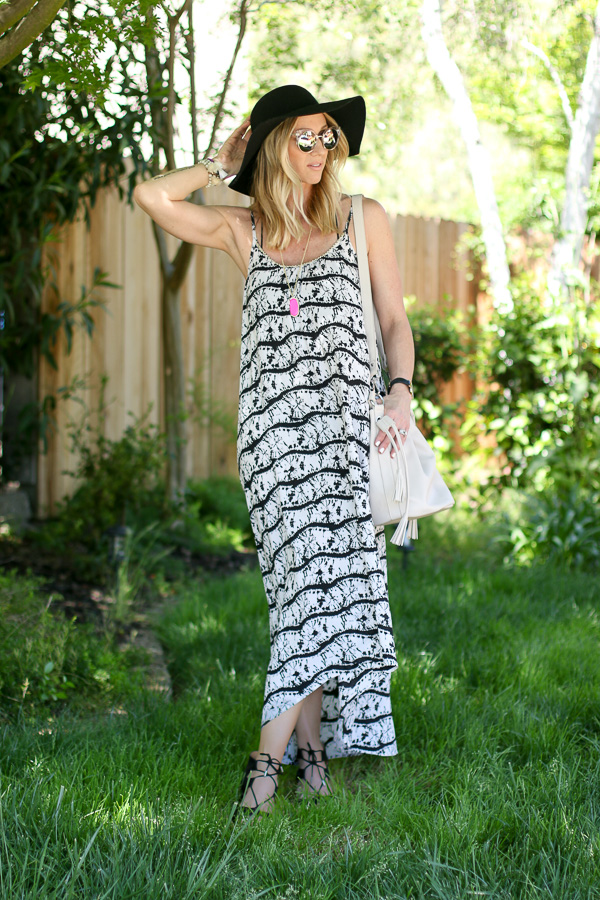 black and white flow maxi dress shop9fifteen