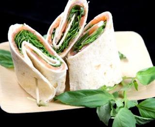 Wraps light salmon basil basil