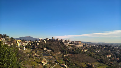 View of Città Alta from Via Sudorno