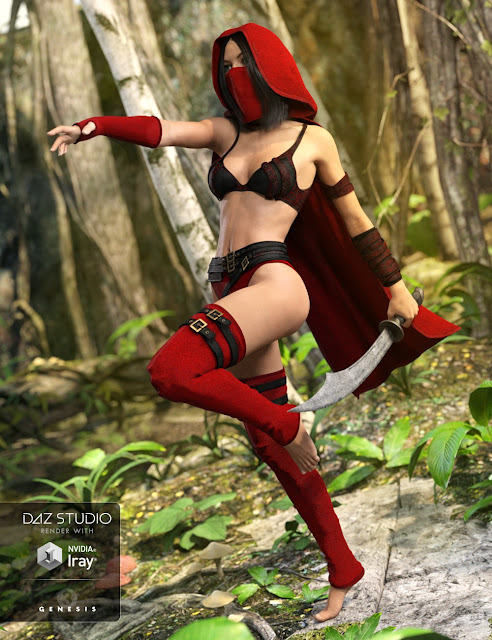 Secret Poison Outfit for Genesis 3 Female