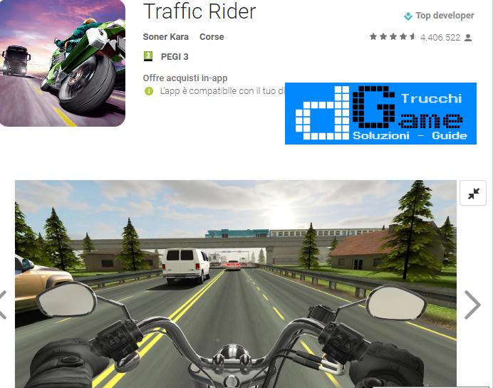 Trucchi Traffic Rider Mod Apk Android v1.3 b321