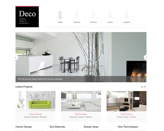 deco creative design and architecture responsive joomla template best furniture websites design