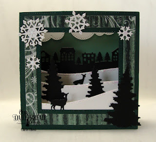 Our Daily Bread Designs Custom Dies: Cloud Border, Diorama with Layers, Bethlehem, Neighborhood Border,Trees and Deer, Curvy Slopes, Snow Crystals, Paper Collection: Christmas 2017