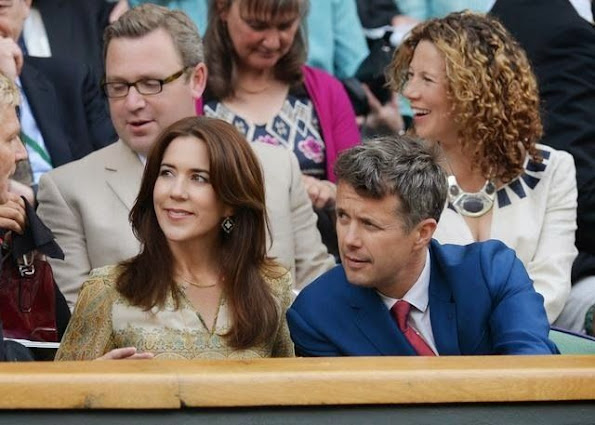 Crown Prince Frederik and Crown Princess Mary watched Lukas Rosol of the Czech Republic and Rafael Nadal