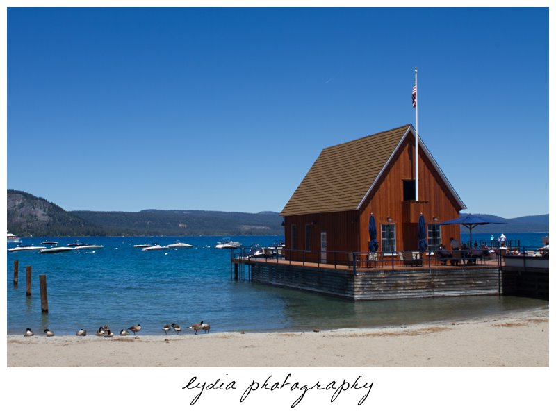 Dock At Vintage Chambers Landing Wedding In Tahoe California