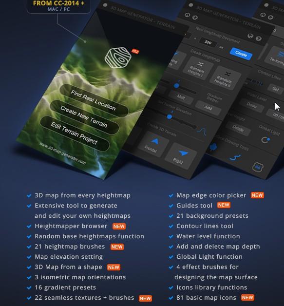 Free Download Premium 3D Map Generator in Photoshop - الربح