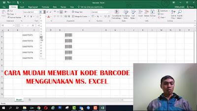 Cara Membuat Kode Barcode Menggunakan Excel
