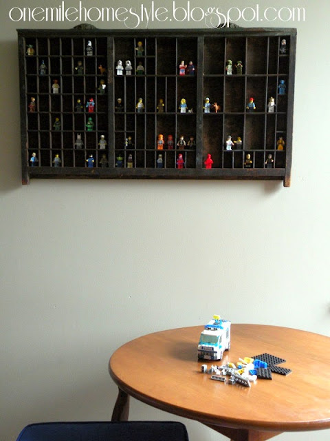 Lego building space in kids room