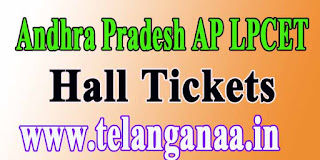 Andhra Pradesh LPCET APLPCET 2016 Exam Hall Tickets