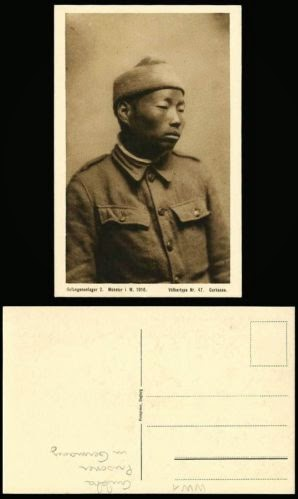 WW1 1916 Prisoner of War POW Gurkha Gurkasse British Indian Soldier Old Postcard
