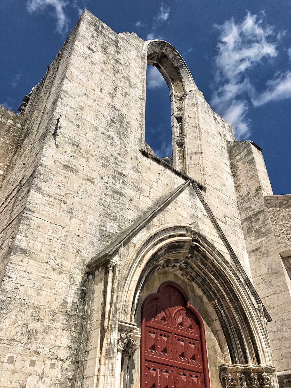 Carmo Convent Church, ruins Lisbon Portugal