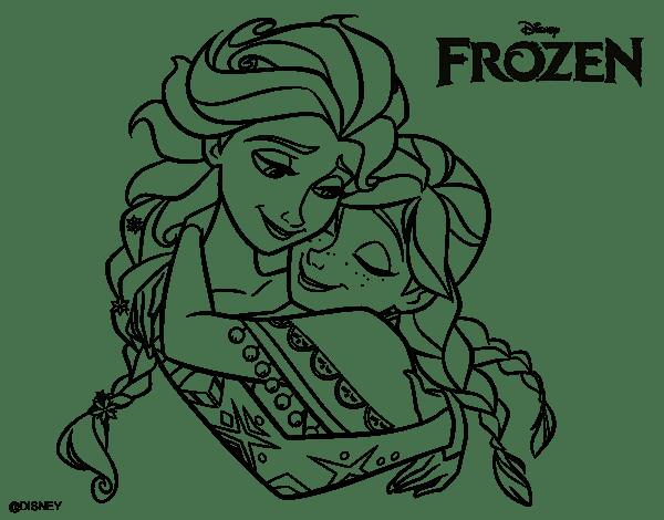 Imprimir Dibujos Para Colorear De Frozen: ® Colección De Gifs ®: IMÁGENES DE FROZEN PARA COLOREAR