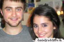 Daniel Radcliffe with the cast of 13 (including Ariana Grande)