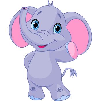 Waving elephant emoji