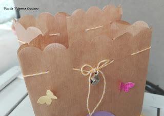 farfalle di carta per lanterna fai da te