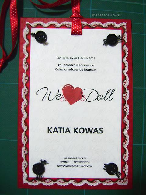 Crachá We Love Doll