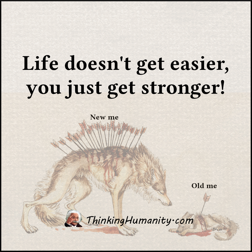 Life doesn't get easier, you just get stronger!