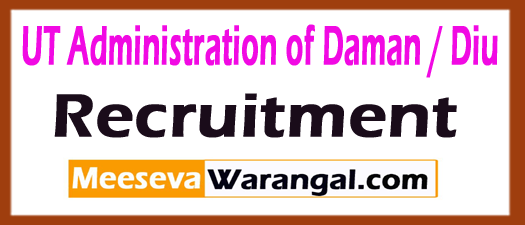 UT Administration of Daman / Diu Recruitment