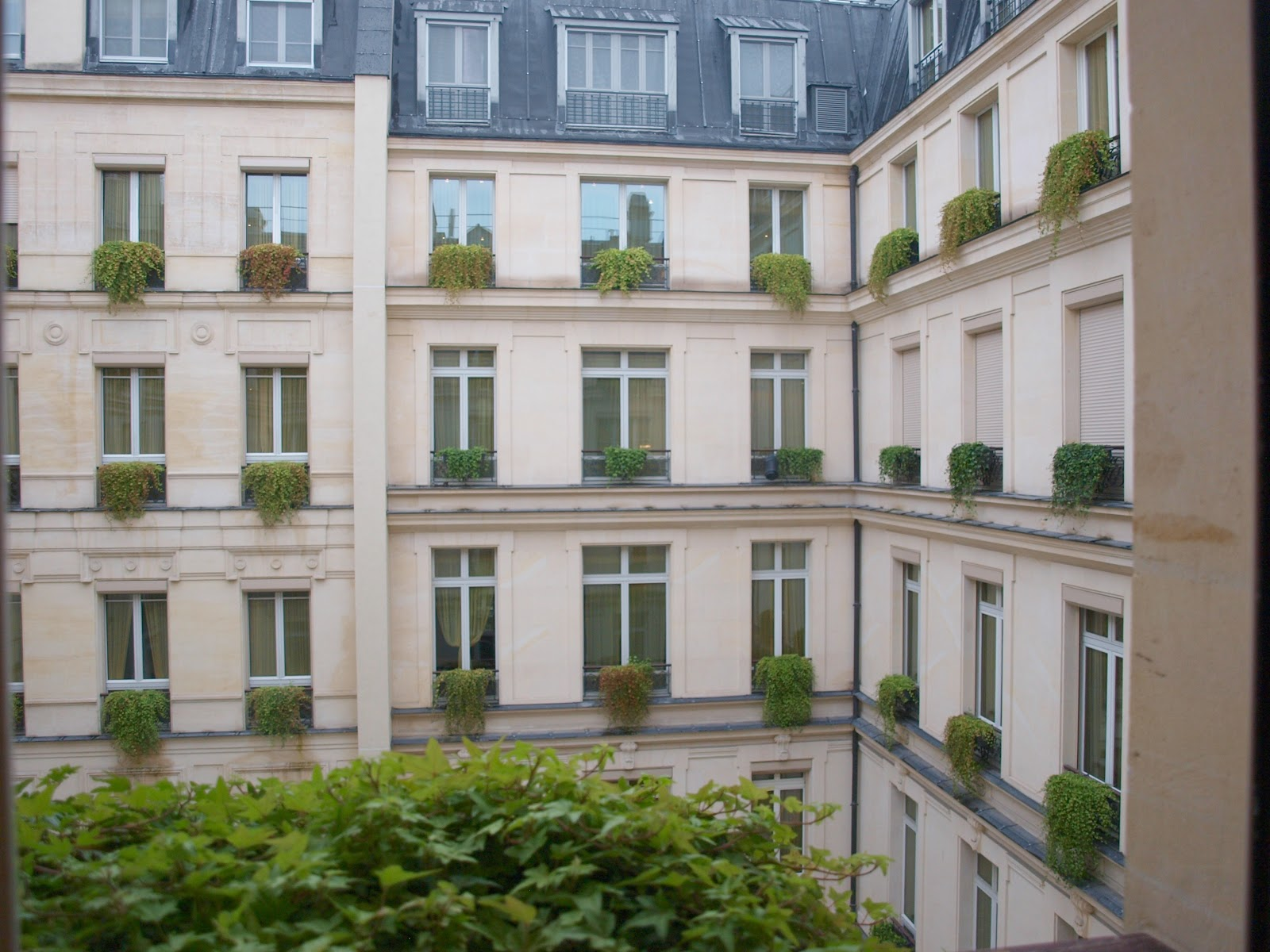 Inner courtyard of Park Hyatt Paris Vendome by Hello Lovely Studio