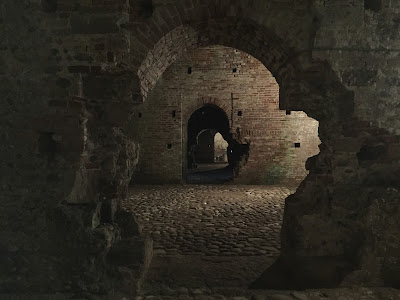 Dungeon of Castello Visconteo.