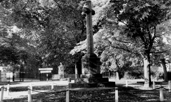 Photograph on a postcard of The North Mymms War Memorial 1960s Image from the NMLHS