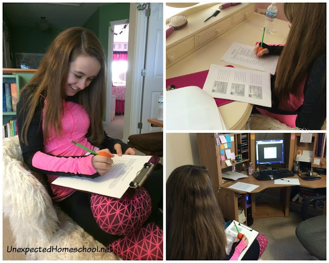 Block Scheduling for homeschooling high school. Take a peek into our day.