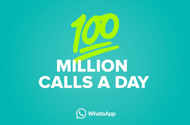Whatsapp 100 million calls a day