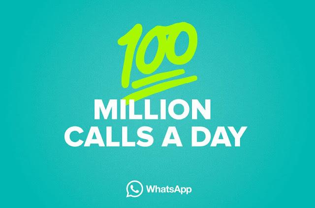 Whatsapp 100 million calls a day